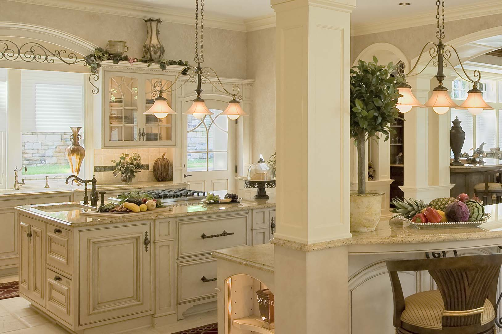 French Colonial Kitchen - Colonial Craft Kitchens