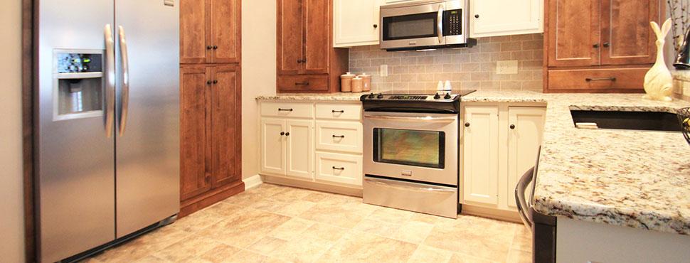 Split-Finish Townhouse Kitchen